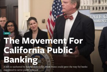 The Movement For California Public Banking