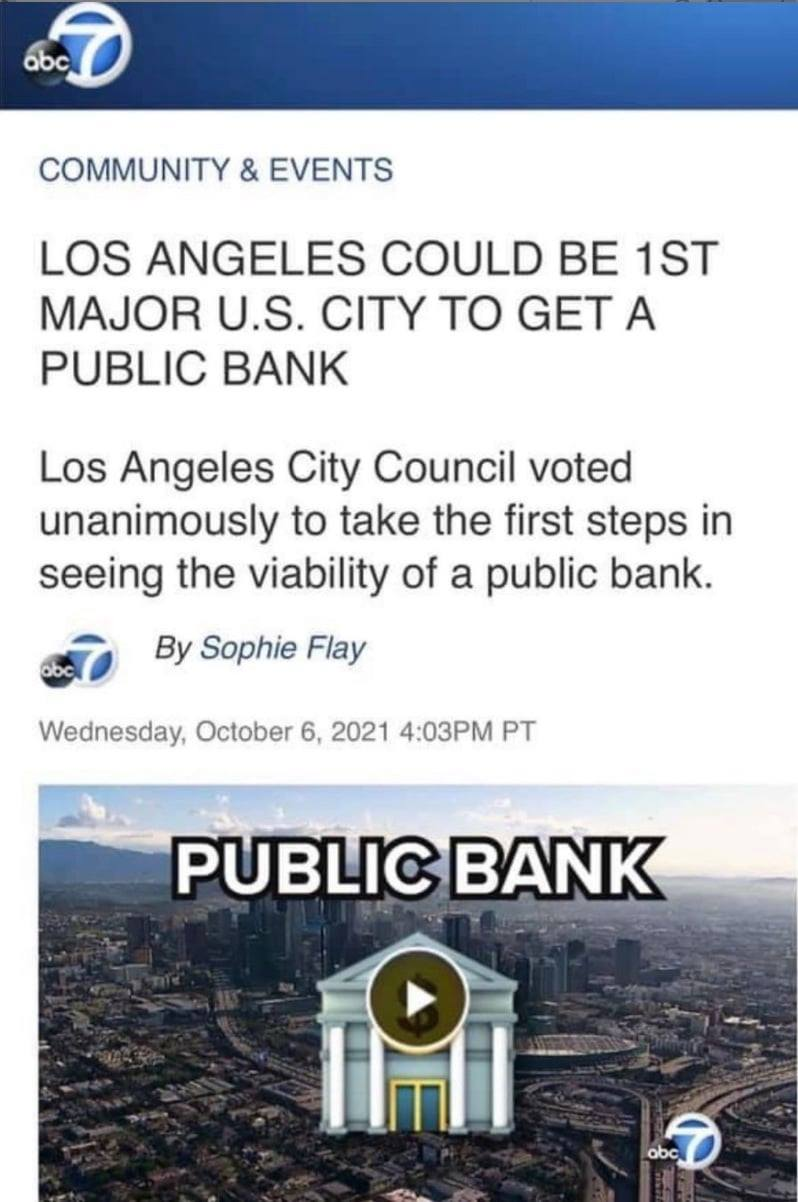 Los Angeles could be 1st major U.S. city to get a public bank